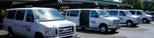 Our tour vans at Hilo airport!
