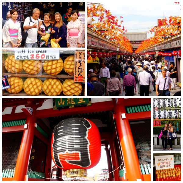 Sensoji Temple & Nakamise Streets in Asakusa