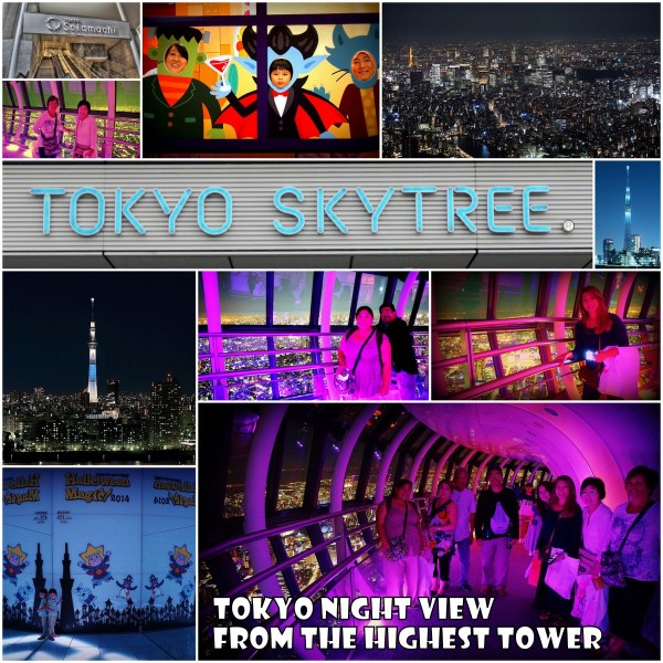 The night view from the top of Skytree is beautiful!