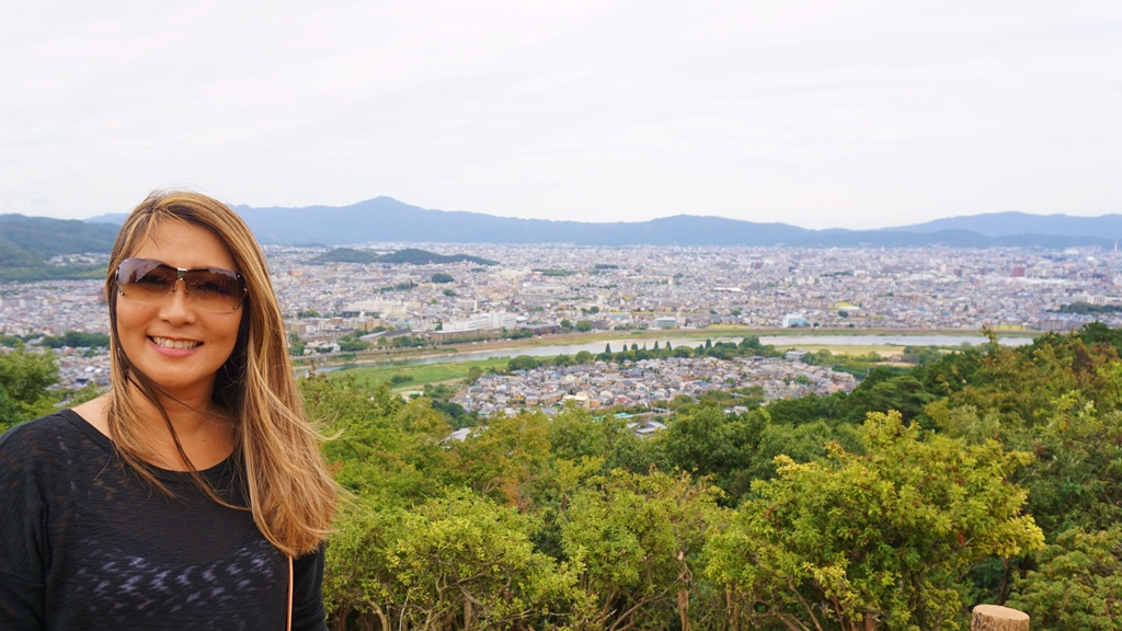 Nice Kyoto town view from Arashiyama's monkey park!