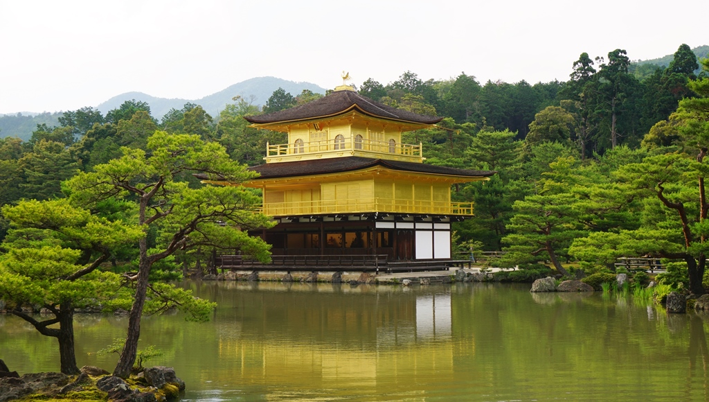 Kinkakuji Temple or Golden Pavillion