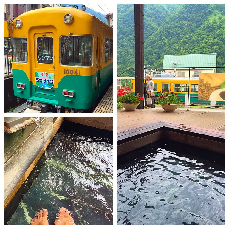 Today we will go see the beautiful Fall leaves in Kurobe Gorge by riding cute train. Must try some foot bath on the way
