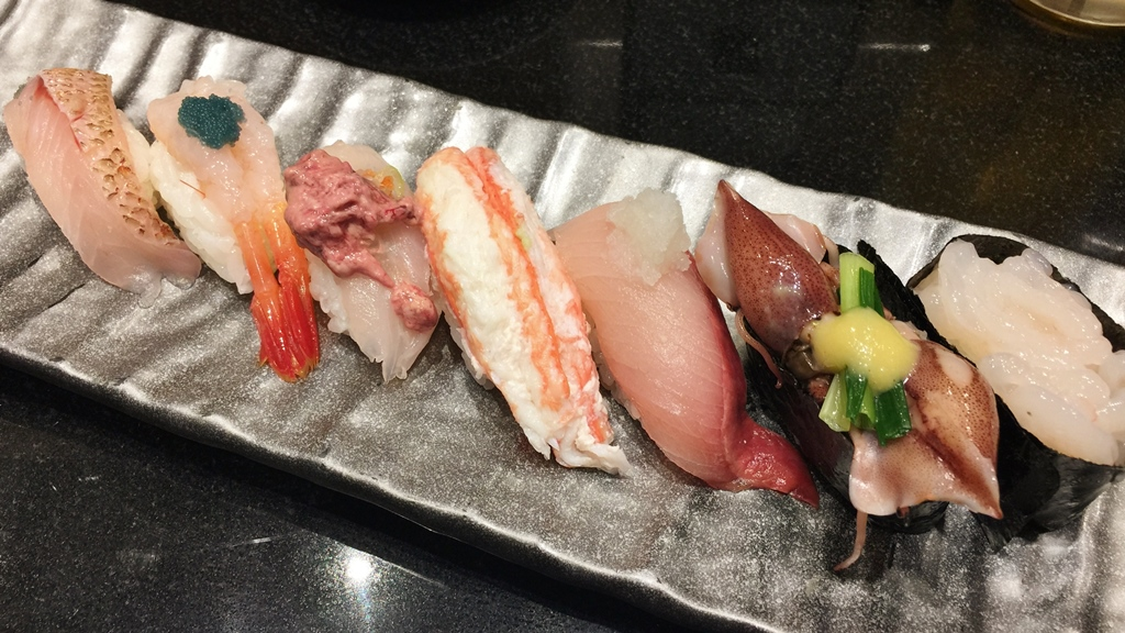 "Sushi is very oichi in Toyama. This is know as ""Toyama Bay Sushi"" and also locals' favorite!"