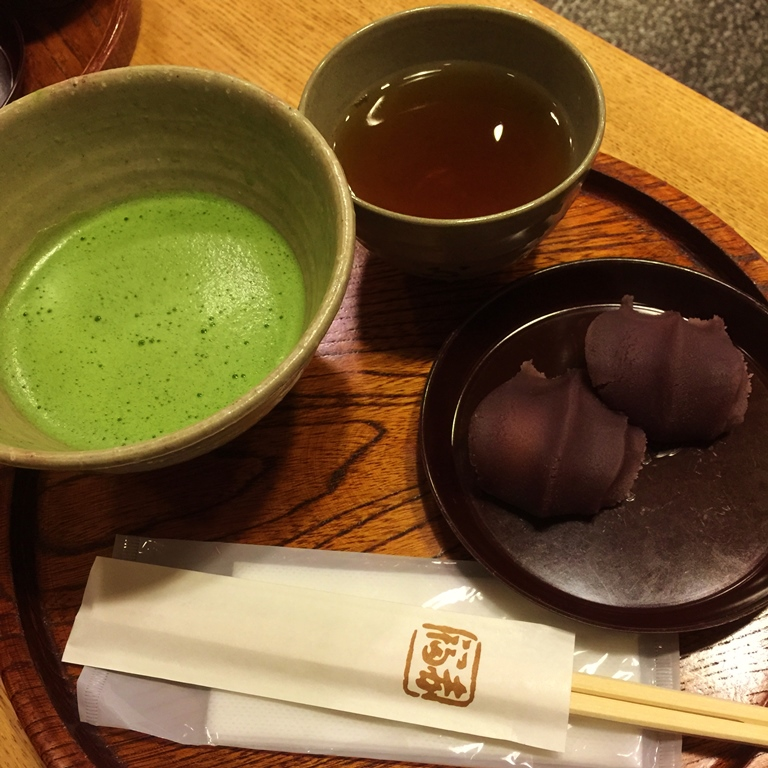 For dessert, would you like to try An-covered mochi with match green tea? or the next one?